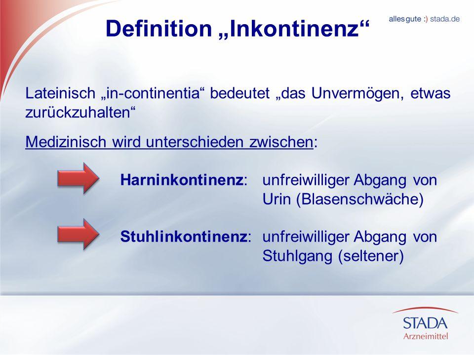 """Definition """"Inkontinenz"""