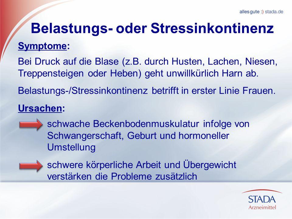 Belastungs- oder Stressinkontinenz