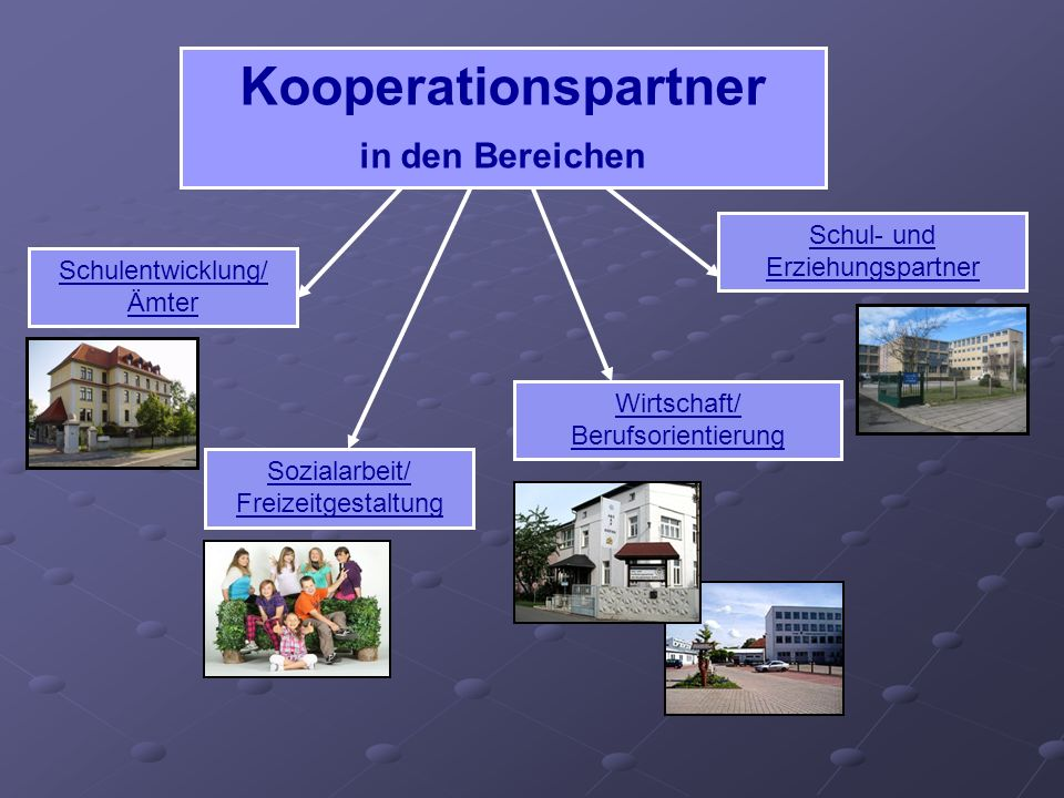 Kooperationspartner in den Bereichen