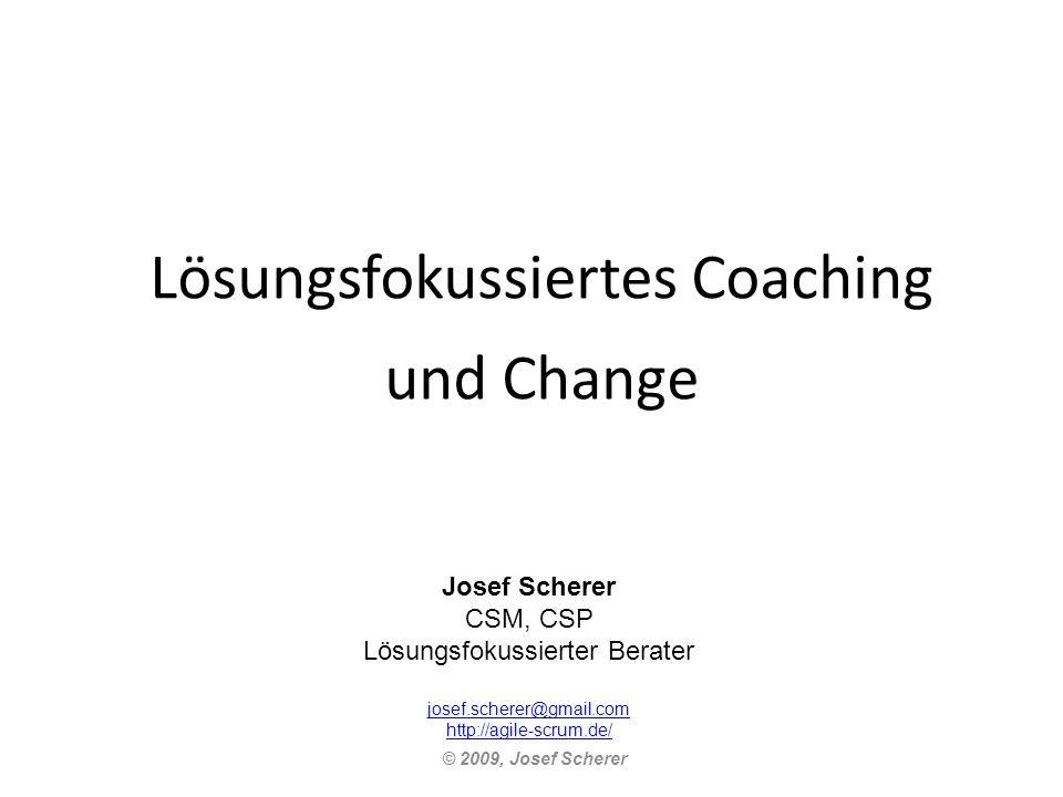 Lösungsfokussiertes Coaching und Change