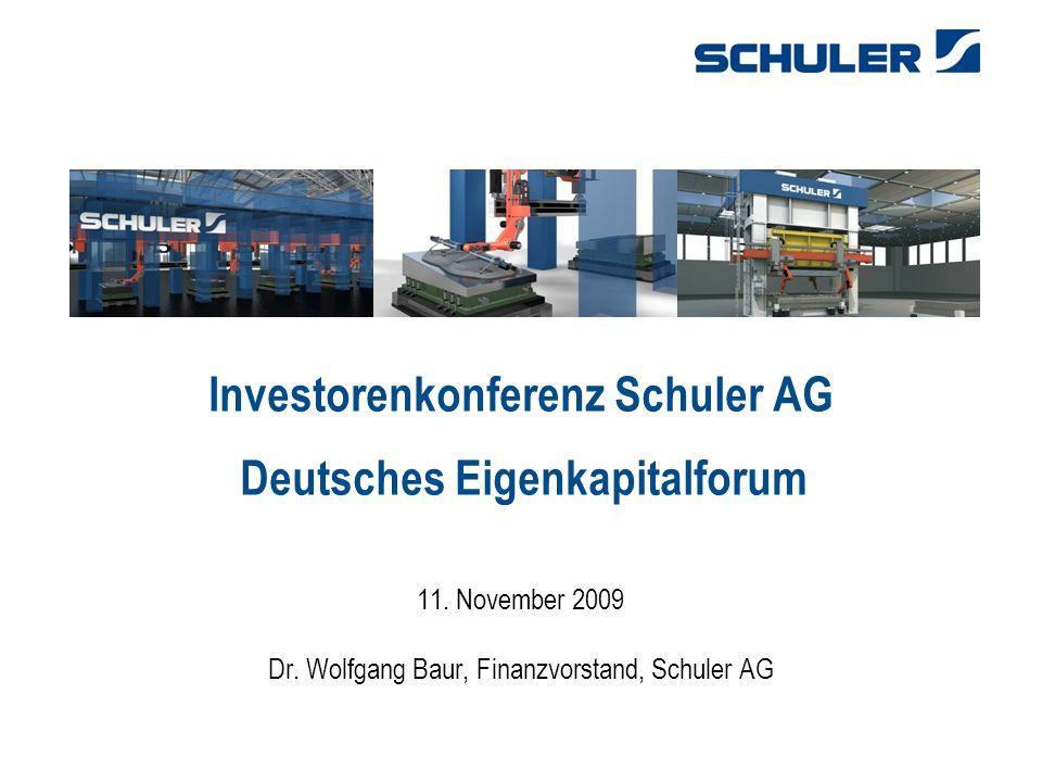31.03.2017 Investorenkonferenz Schuler AG Deutsches Eigenkapitalforum 11.