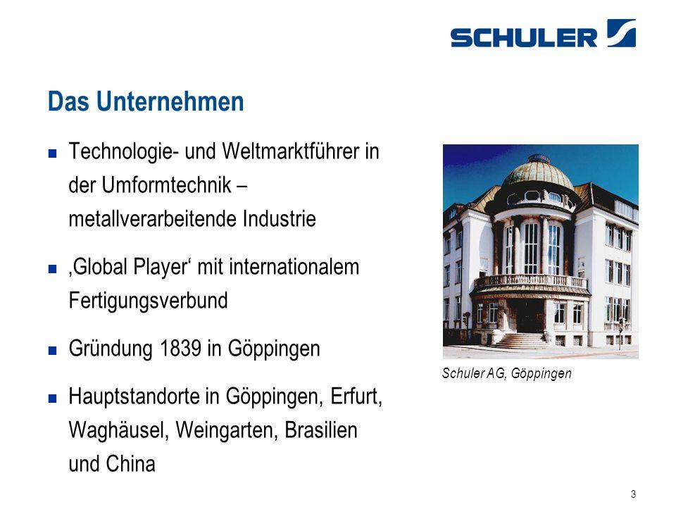 31.03.2017 Das Unternehmen. Technologie- und Weltmarktführer in der Umformtechnik – metallverarbeitende Industrie.