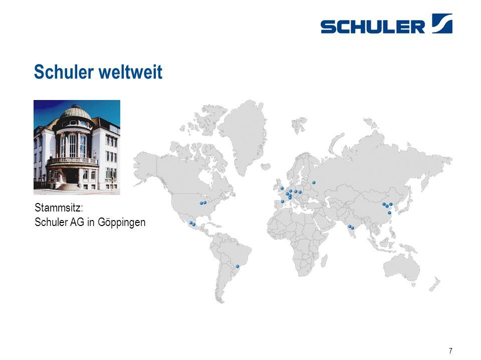 Schuler weltweit Stammsitz: Schuler AG in Göppingen