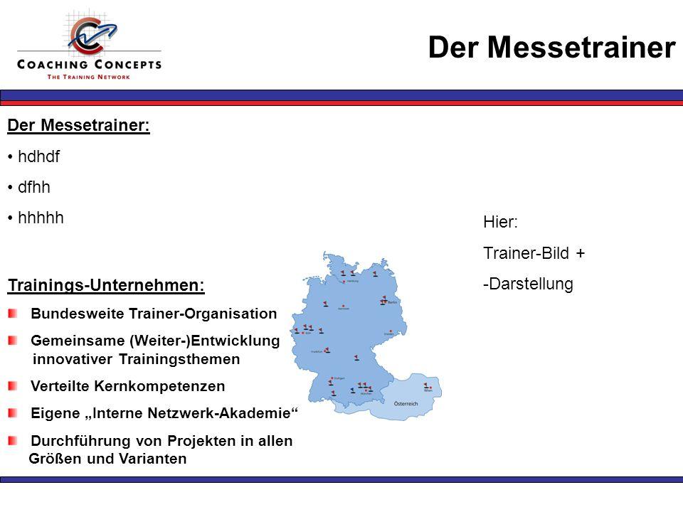 Der Messetrainer Der Messetrainer: hdhdf dfhh hhhhh Hier: