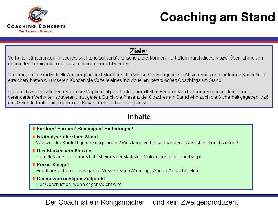 Der Coach ist ein Königsmacher – und kein Zwergenproduzent