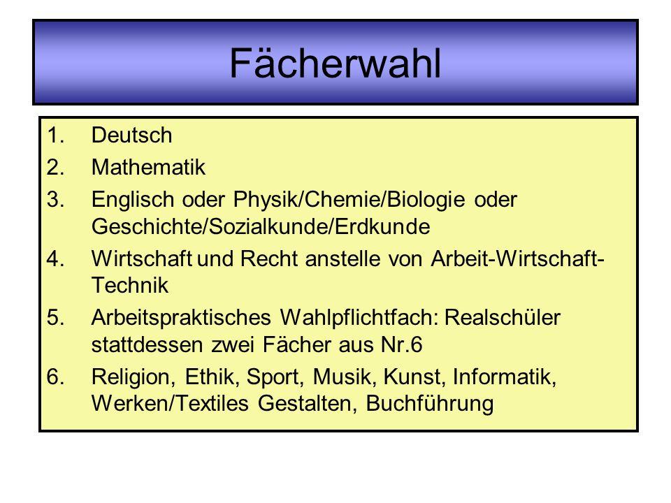 Fächerwahl Deutsch Mathematik