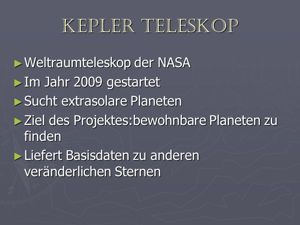 Kepler Teleskop Weltraumteleskop der NASA Im Jahr 2009 gestartet