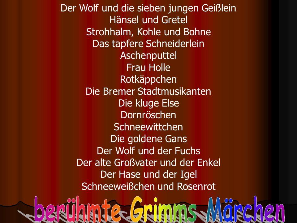 berühmte Grimms Märchen