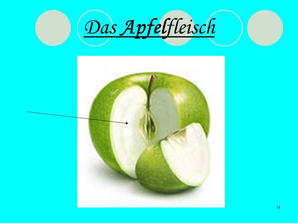 Das Apfelfleisch