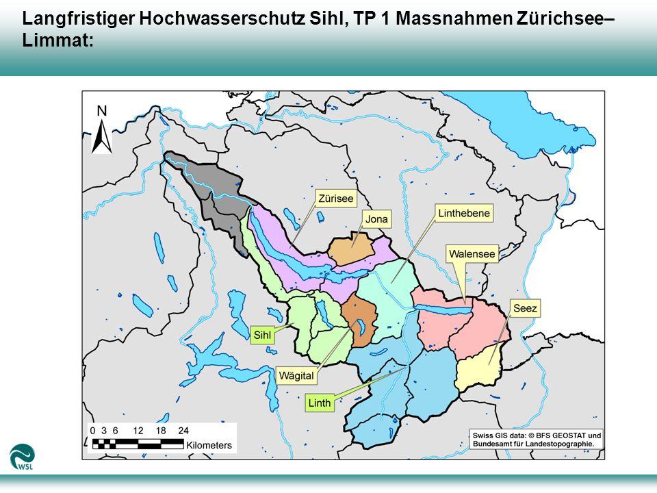 Langfristiger Hochwasserschutz Sihl, TP 1 Massnahmen Zürichsee–Limmat: