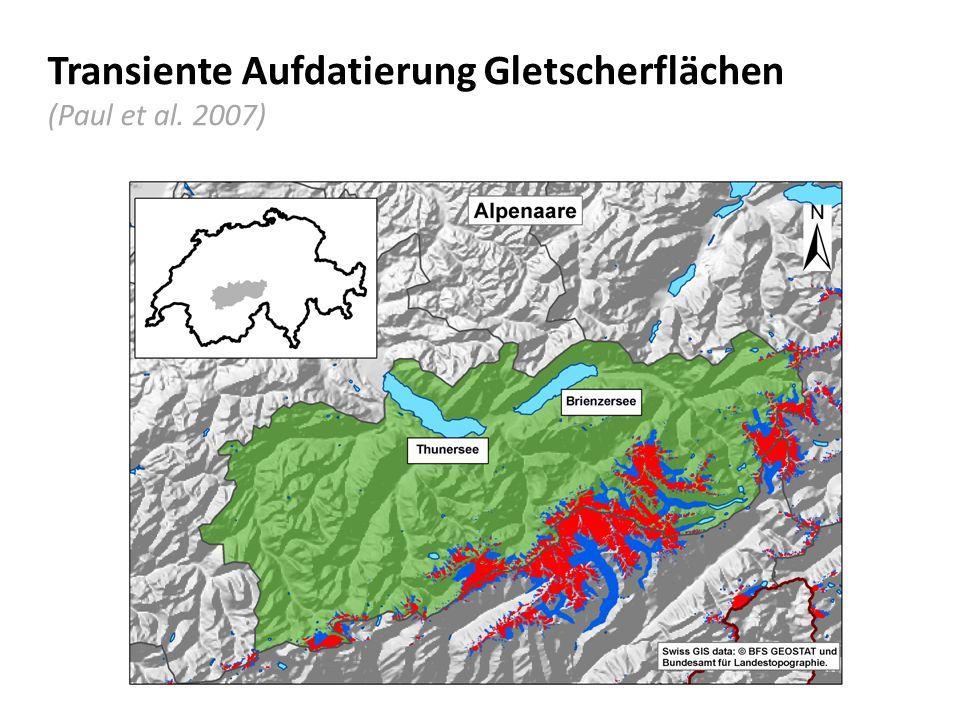 Transiente Aufdatierung Gletscherflächen (Paul et al. 2007)