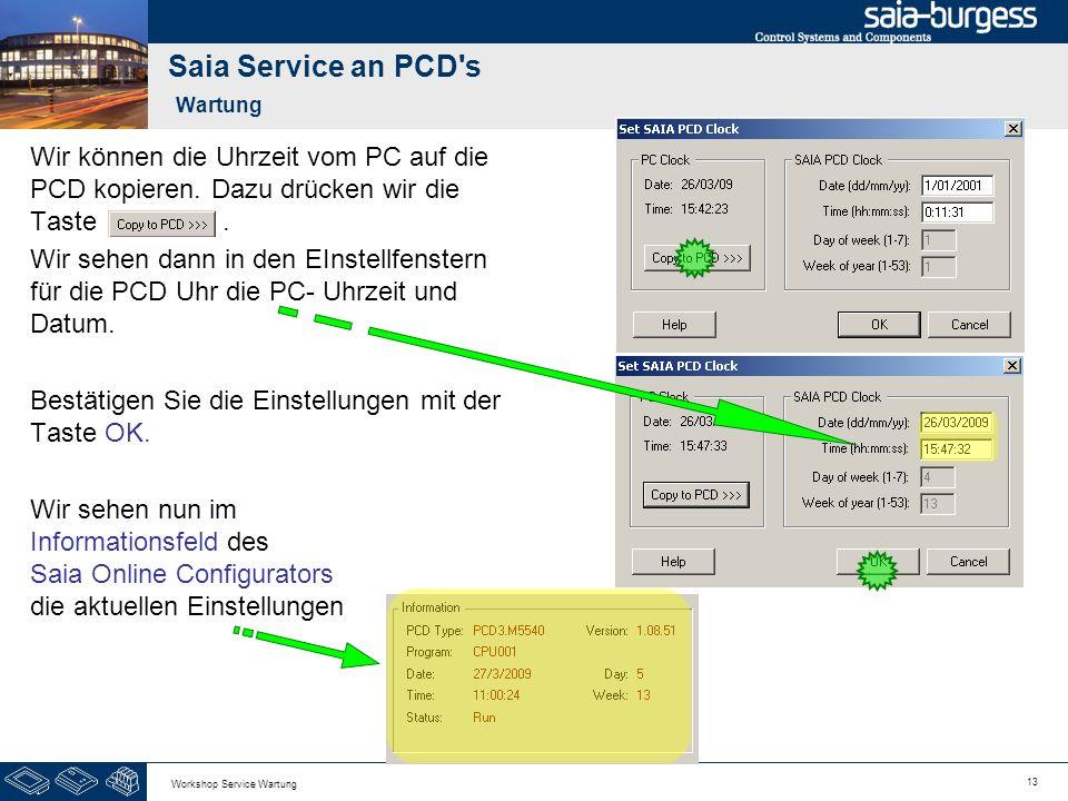 Saia Service an PCD s Wartung