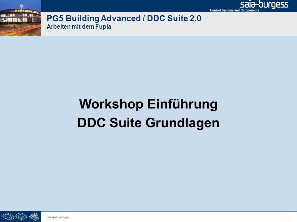 PG5 Building Advanced / DDC Suite 2.0 Arbeiten mit dem Fupla