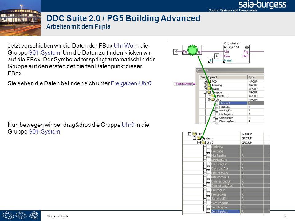 DDC Suite 2.0 / PG5 Building Advanced Arbeiten mit dem Fupla