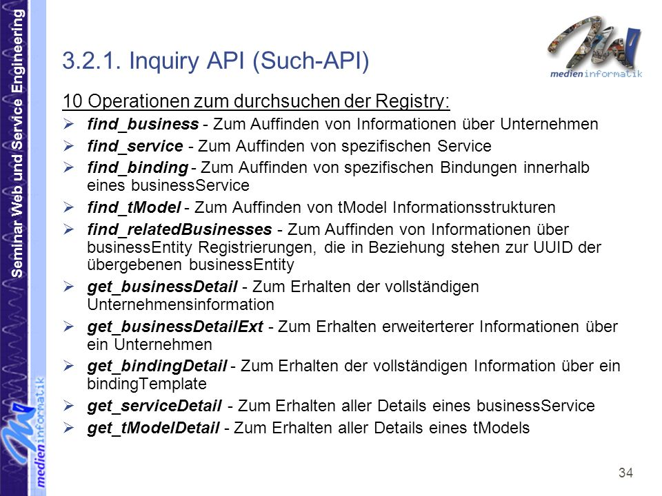 3.2.1. Inquiry API (Such-API)