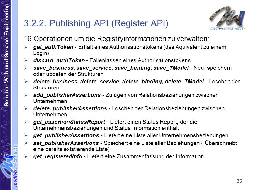 3.2.2. Publishing API (Register API)