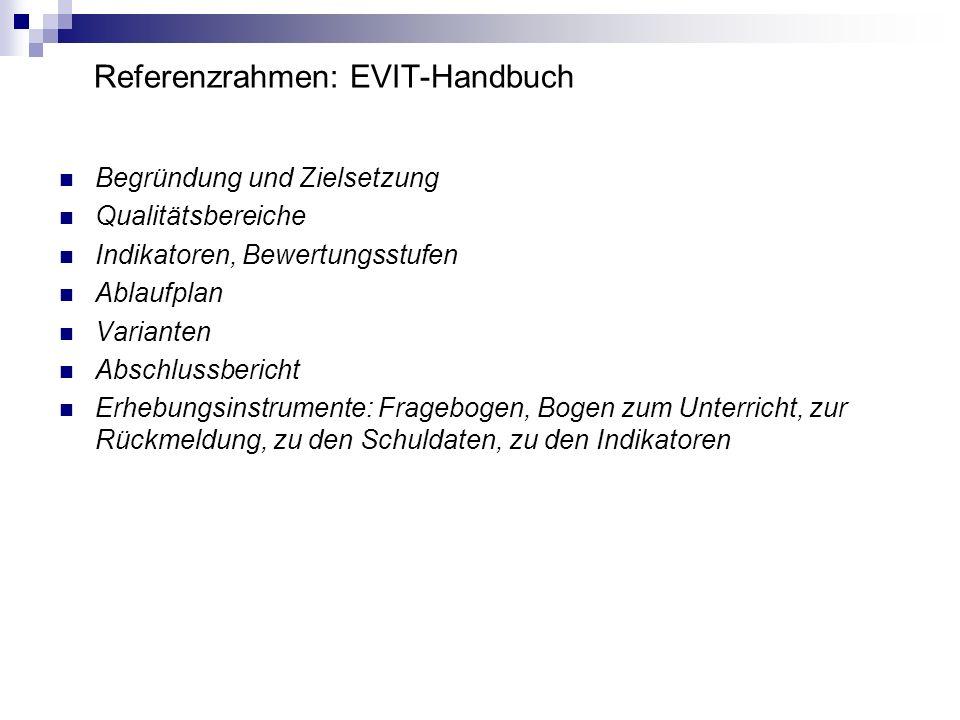 Referenzrahmen: EVIT-Handbuch