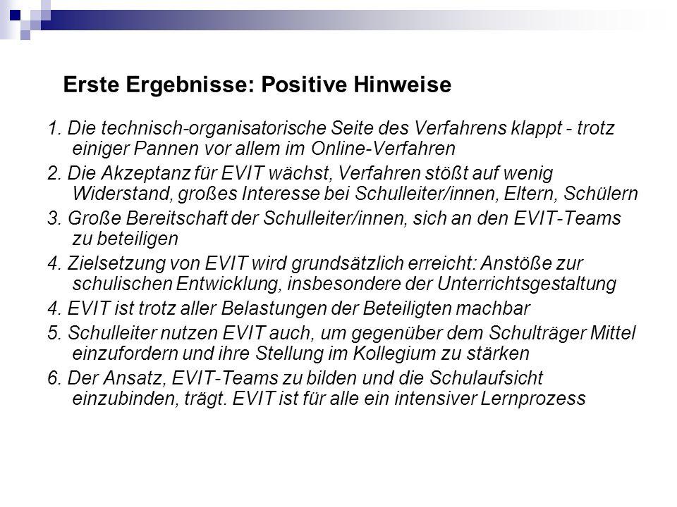 Erste Ergebnisse: Positive Hinweise