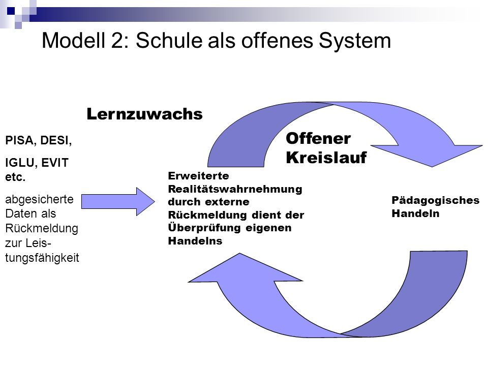 Modell 2: Schule als offenes System