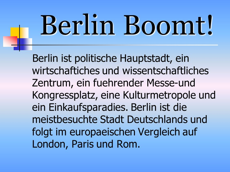 Berlin Boomt!