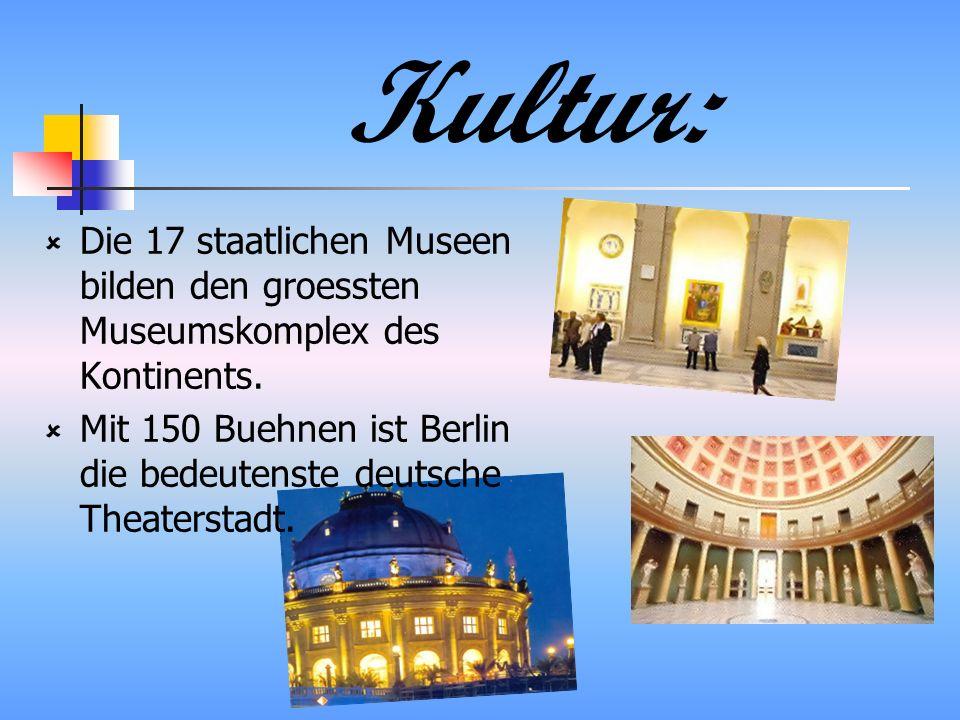 Kultur: Die 17 staatlichen Museen bilden den groessten Museumskomplex des Kontinents.