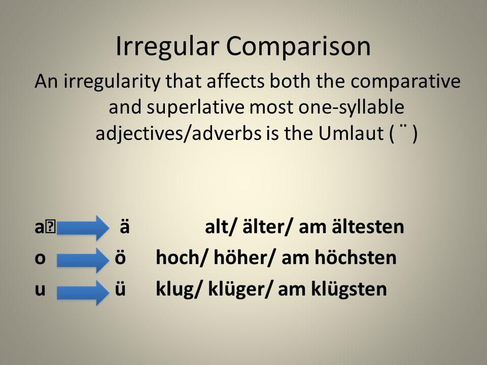 Irregular Comparison