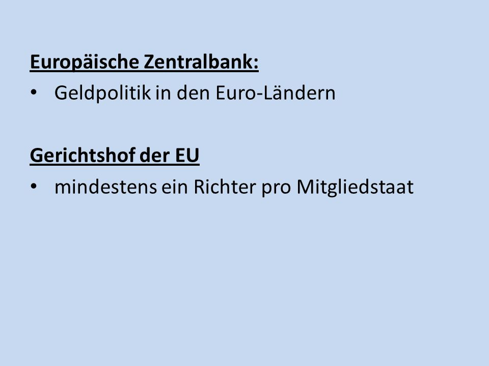 Europäische Zentralbank: