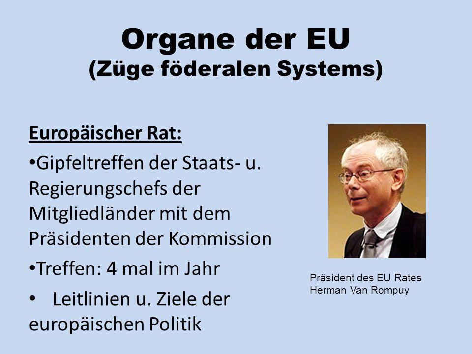 Organe der EU (Züge föderalen Systems)