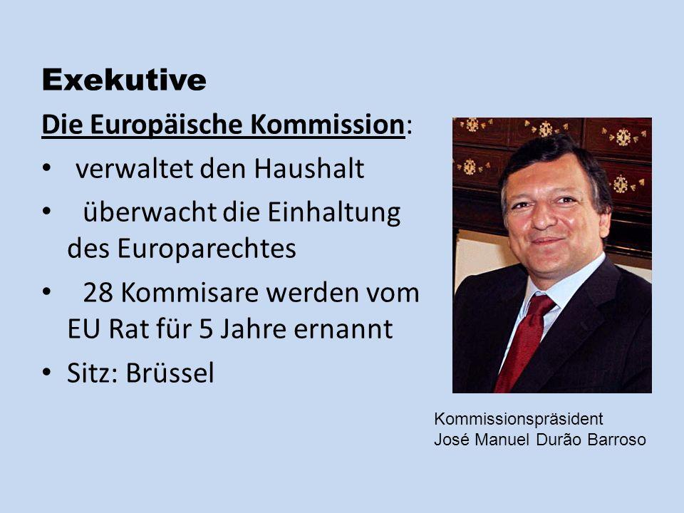 Die Europäische Kommission: verwaltet den Haushalt