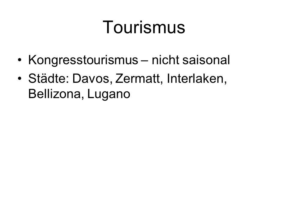 Tourismus Kongresstourismus – nicht saisonal