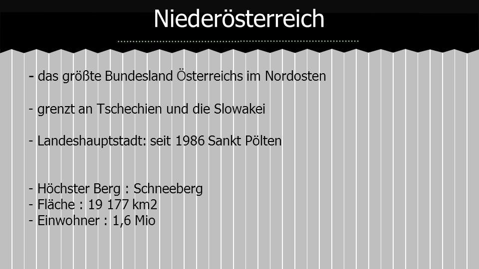 Niederösterreich - das größte Bundesland Österreichs im Nordosten