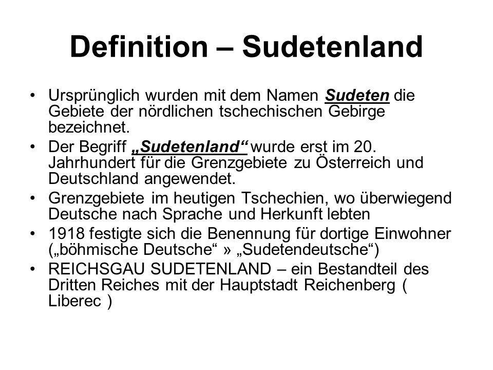 Definition – Sudetenland