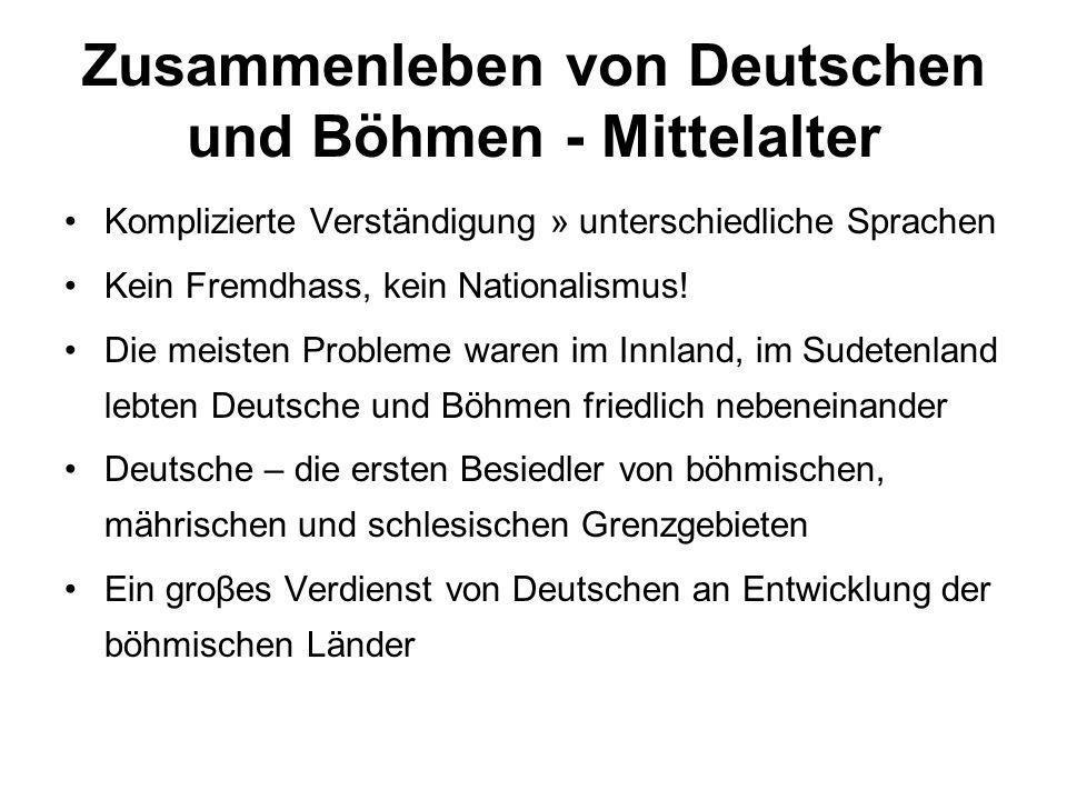 Zusammenleben von Deutschen und Böhmen - Mittelalter