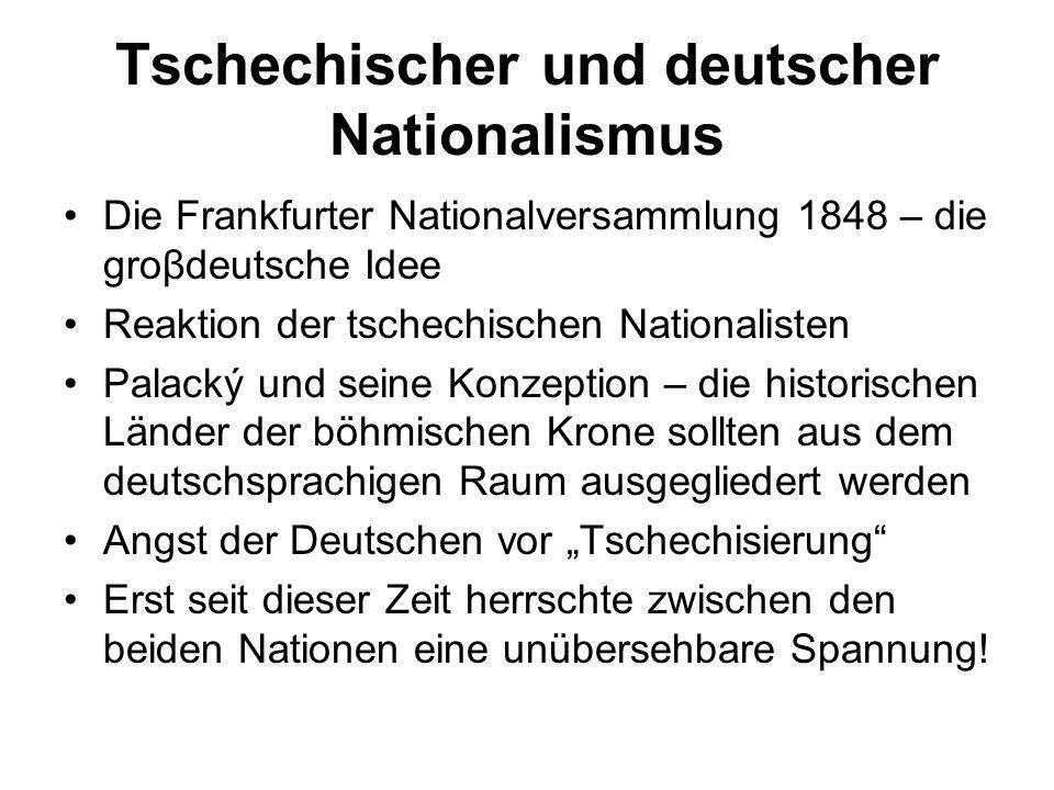 Tschechischer und deutscher Nationalismus