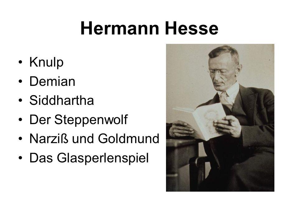 Hermann Hesse Knulp Demian Siddhartha Der Steppenwolf