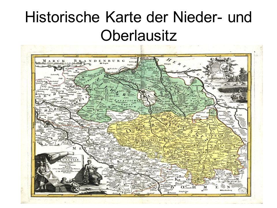 Historische Karte der Nieder- und Oberlausitz
