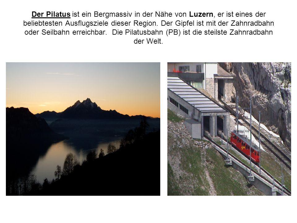 Der Pilatus ist ein Bergmassiv in der Nähe von Luzern, er ist eines der beliebtesten Ausflugsziele dieser Region.