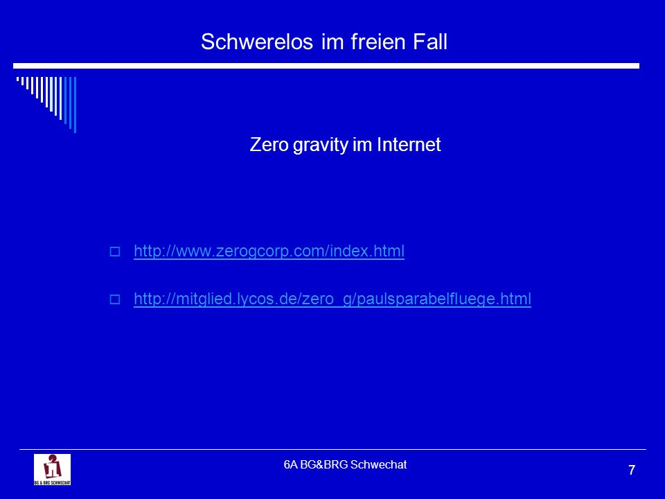 Zero gravity im Internet