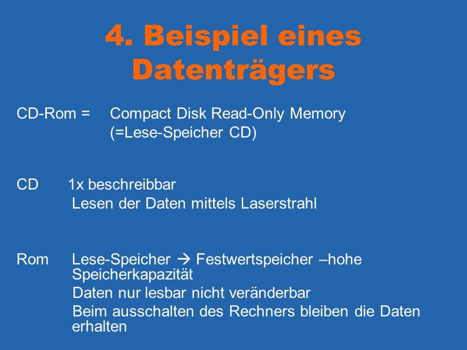 4. Beispiel eines Datenträgers