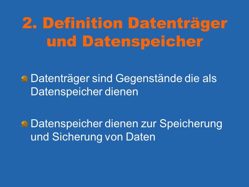 2. Definition Datenträger und Datenspeicher