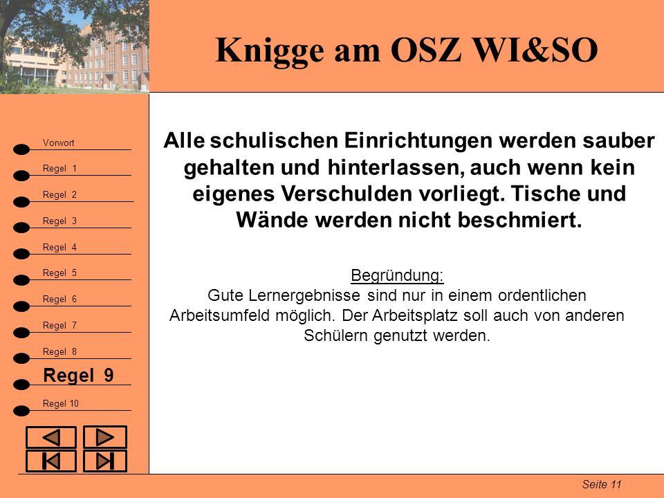 Knigge am OSZ WI&SO