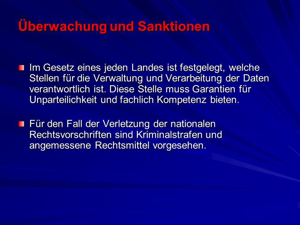 Überwachung und Sanktionen