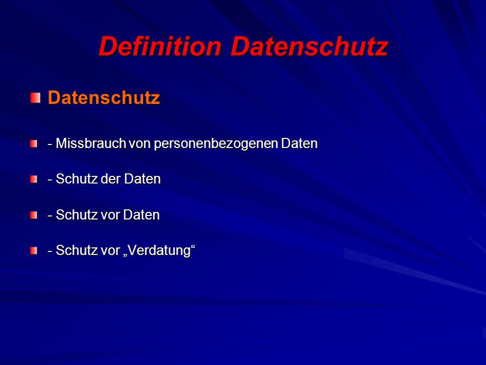 Definition Datenschutz