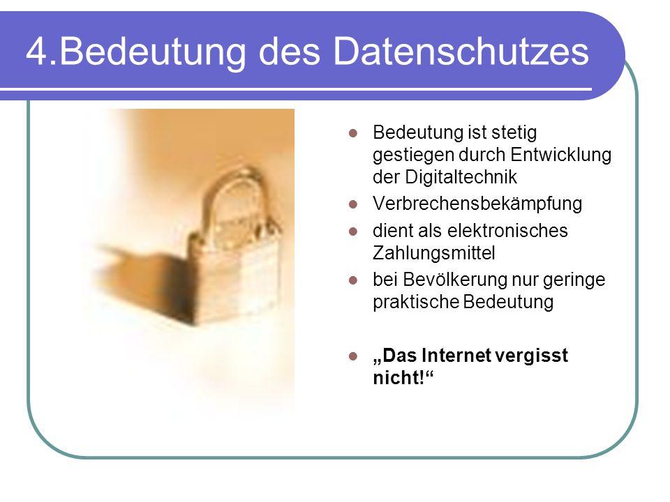4.Bedeutung des Datenschutzes