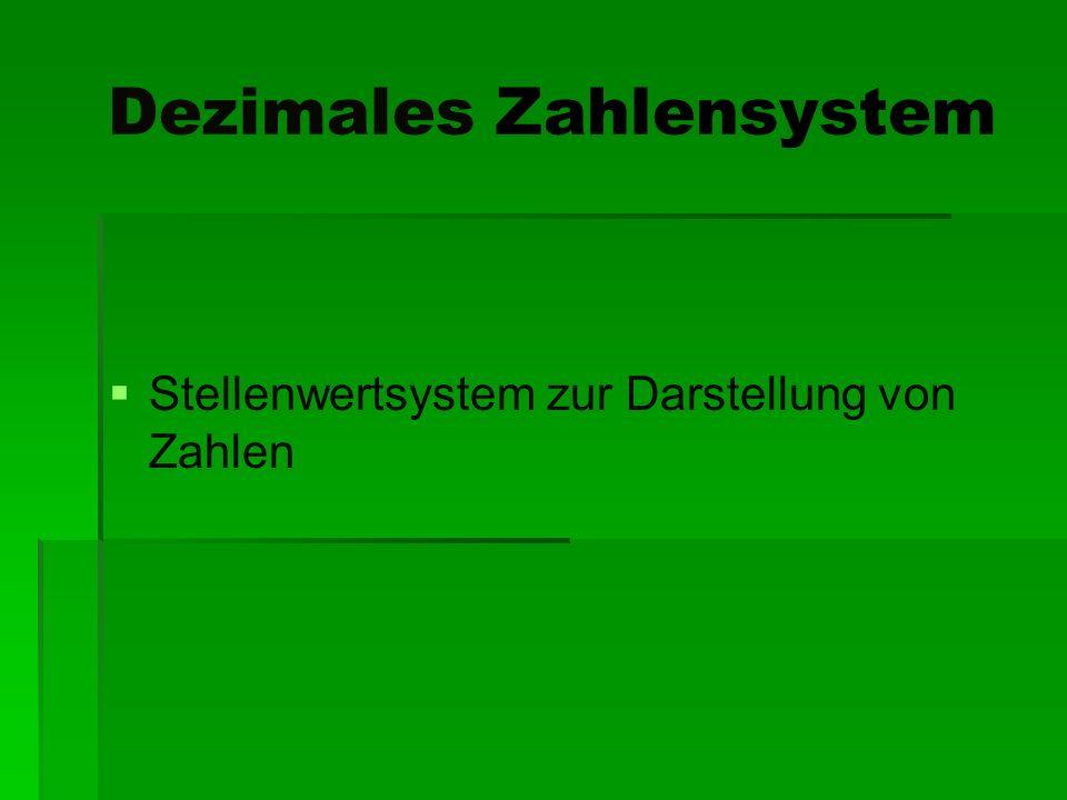 Dezimales Zahlensystem