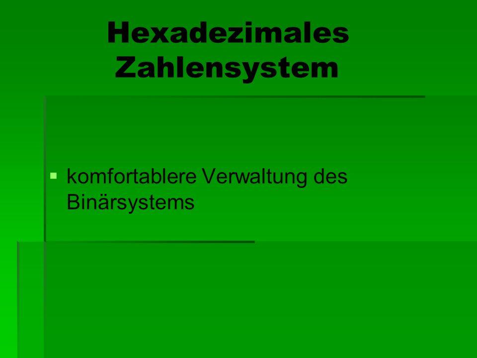 Hexadezimales Zahlensystem
