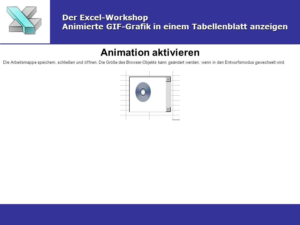 Animation aktivieren Der Excel-Workshop