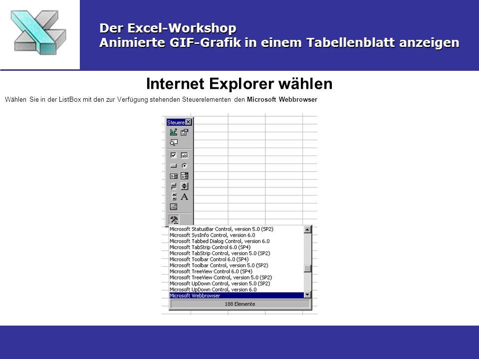 Internet Explorer wählen