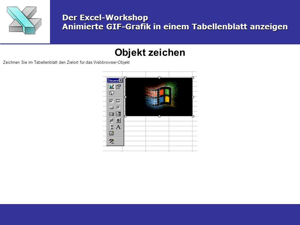 Objekt zeichen Der Excel-Workshop