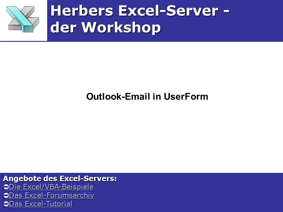 Outlook-Email in UserForm